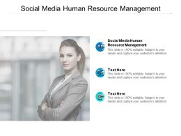 Social Media Human Resource Management Ppt Powerpoint Presentation Tips Cpb