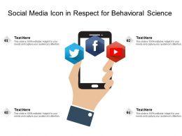 Social Media Icon In Respect For Behavioral Science