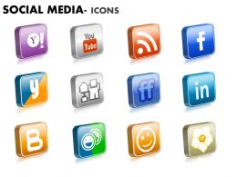 Social Media Icons diagram 2