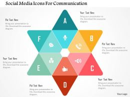 Social Media Icons For Communication Flat Powerpoint Design