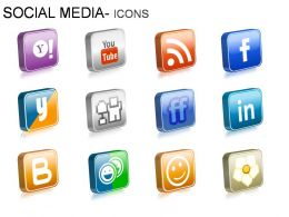 Social Media Icons Powerpoint Presentation Slides
