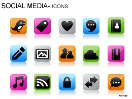 Social Media Icons Powerpoint Presentation Slides