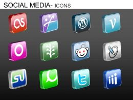 Social Media Icons Powerpoint Presentation Slides DB