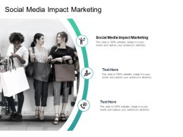 Social Media Impact Marketing Ppt Powerpoint Presentation Model Icons Cpb