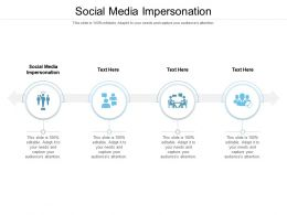 Social Media Impersonation Ppt Powerpoint Presentation Infographic Template Format Ideas Cpb