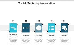 Social Media Implementation Ppt Powerpoint Presentation Inspiration Guide Cpb