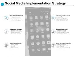 Social Media Implementation Strategy Execute Goals Ppt Powerpoint Presentation Slides Format