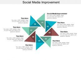 Social Media Improvement Ppt Powerpoint Presentation Gallery Grid Cpb