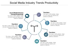Social Media Industry Trends Productivity Ppt Powerpoint Presentation Gallery Topics Cpb