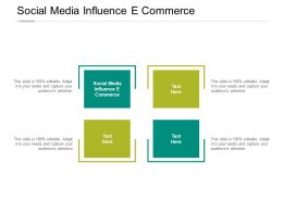 Social Media Influence E Commerce Ppt Powerpoint Presentation Model Cpb