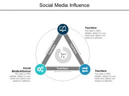 Social Media Influence Ppt Powerpoint Presentation Model Information Cpb