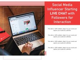 Social Media Influencer Starting Live Chat With Followers For Interaction