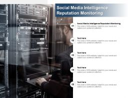 Social Media Intelligence Reputation Monitoring Ppt Powerpoint Presentation Infographic Cpb