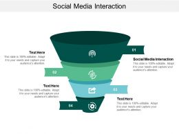 Social Media Interaction Ppt Powerpoint Presentation Gallery Design Templates Cpb