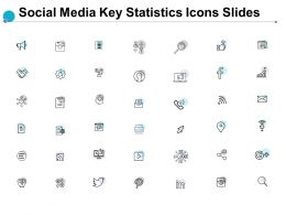 Social Media Key Statistics Icons Slides Growth Dollar Ppt Powerpoint Presentation Show Maker