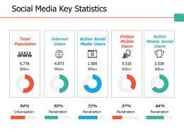 Social Media Key Statistics Ppt Professional Files