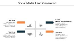 Social Media Lead Generation Ppt Powerpoint Presentation Outline Infographics Cpb