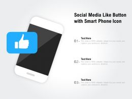 Social Media Like Button With Smart Phone Icon
