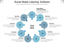 Social Media Listening Software Ppt Powerpoint Presentation Infographic Template Format Cpb