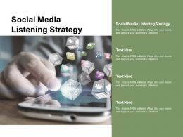 Social Media Listening Strategy Ppt Powerpoint Presentation Infographics Design Ideas Cpb