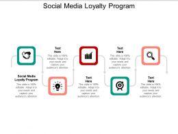 Social Media Loyalty Program Ppt Powerpoint Presentation Styles Clipart Cpb