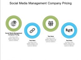Social Media Management Company Pricing Ppt Powerpoint Presentation Portfolio Sample Cpb