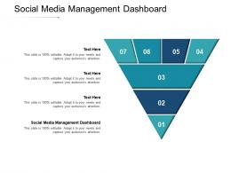 Social Media Management Dashboard Ppt Powerpoint Presentation Slides Microsoft Cpb