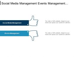 Social Media Management Events Management Advertising Strategies Sales Negotiation Cpb