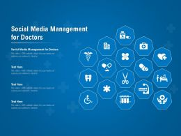 Social Media Management For Doctors Ppt Powerpoint Presentation Inspiration File