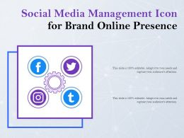 Social Media Management Icon For Brand Online Presence