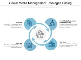 Social Media Management Packages Pricing Ppt Powerpoint Presentation Show Rules Cpb