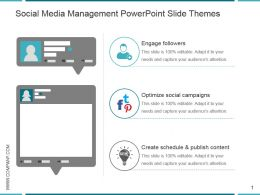 Social Media Management Powerpoint Slide Themes