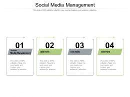 Social Media Management Ppt Powerpoint Presentation Portfolio Inspiration Cpb