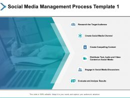 Social Media Management Process Target Audience Ppt Powerpoint Presentation Tips