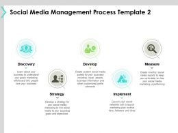 Social Media Management Process Template Strategy B182 Ppt Powerpoint Presentation File Summary