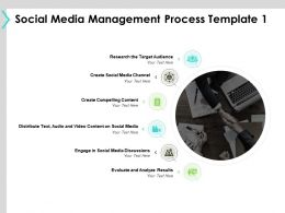 Social Media Management Process Template Target Audience Ppt Powerpoint Presentation File Visuals