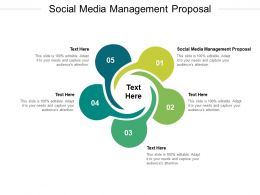 Social Media Management Proposal Ppt Powerpoint Presentation Professional Shapes Cpb