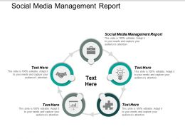 Social Media Management Report Ppt Powerpoint Presentation Summary Layout Cpb