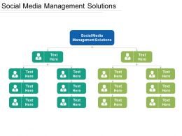 Social Media Management Solutions Ppt Powerpoint Presentation Gallery Templates Cpb