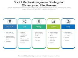 Social Media Management Strategy For Efficiency And Effectiveness