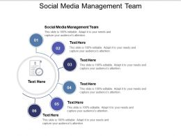 Social Media Management Team Ppt Powerpoint Presentation Infographics Design Ideas Cpb