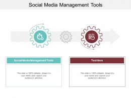 Social Media Management Tools Ppt Powerpoint Presentation Infographic Template Topics Cpb