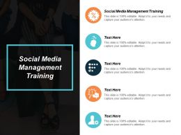 Social Media Management Training Ppt Powerpoint Presentation Professional Designs Download Cpb