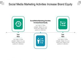 Social Media Marketing Activities Increase Brand Equity Ppt Powerpoint Presentation Visual Cpb