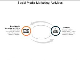 Social Media Marketing Activities Ppt Powerpoint Presentation Inspiration Files Cpb