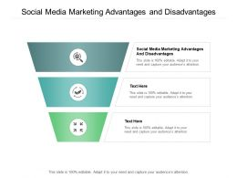 Social Media Marketing Advantages And Disadvantages Ppt Powerpoint Presentation Model Demonstration Cpb