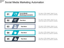 Social Media Marketing Automation Ppt Powerpoint Presentation Slides Visual Aids Cpb