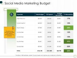Social Media Marketing Budget M2990 Ppt Powerpoint Presentation Styles Model