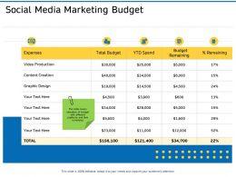 Social Media Marketing Budget Ppt Professional Elements