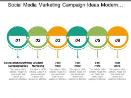 Social Media Marketing Campaign Ideas Modern Marketing Sales Engagement Cpb